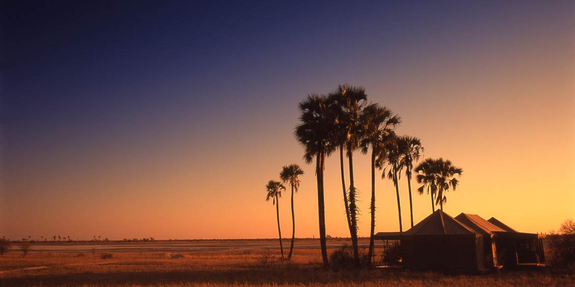 Sunset at Jack's Camp in Botswana's Makgadikgadi
