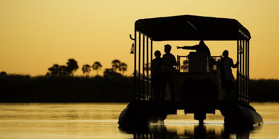 River safari in Botswana's Linyanti