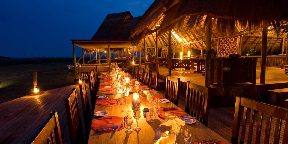 Outside dining area at Selinda safari camp in the Linyanti