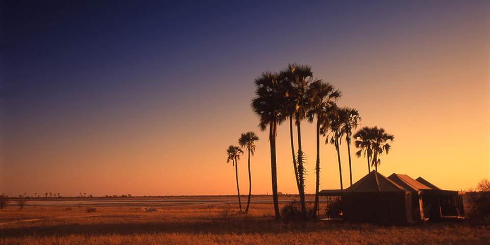 Sunset on the Makgadikgadi Pans in Botswana