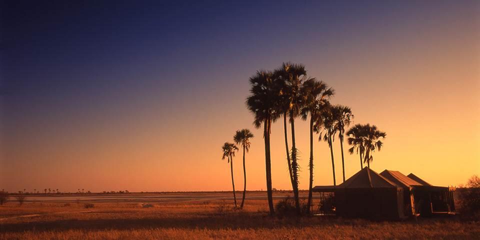 Sunset on the Makgadikgadi Pans in Botswana