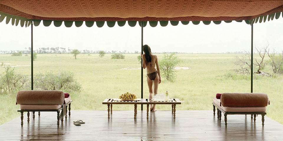 Veranda overlooking Makgadikgadi Pans in Botswana