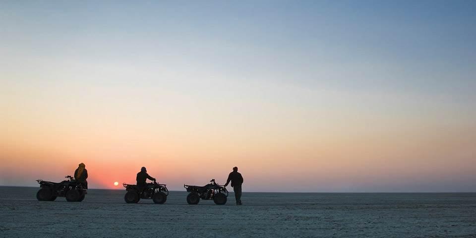 Quad bike safari on Botswana's Makgadikgadi Pans