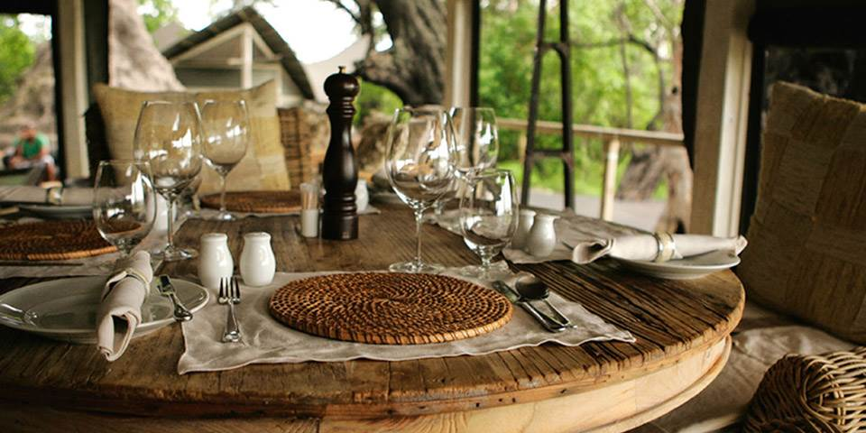 luxury dining & cuisine at Abu Camp in Botswana