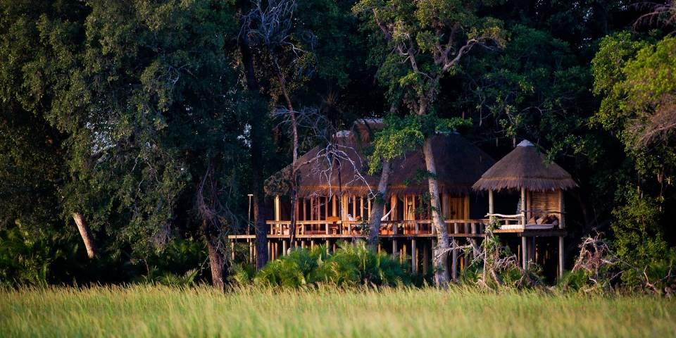 Exterior of Jao safari camp Botswana