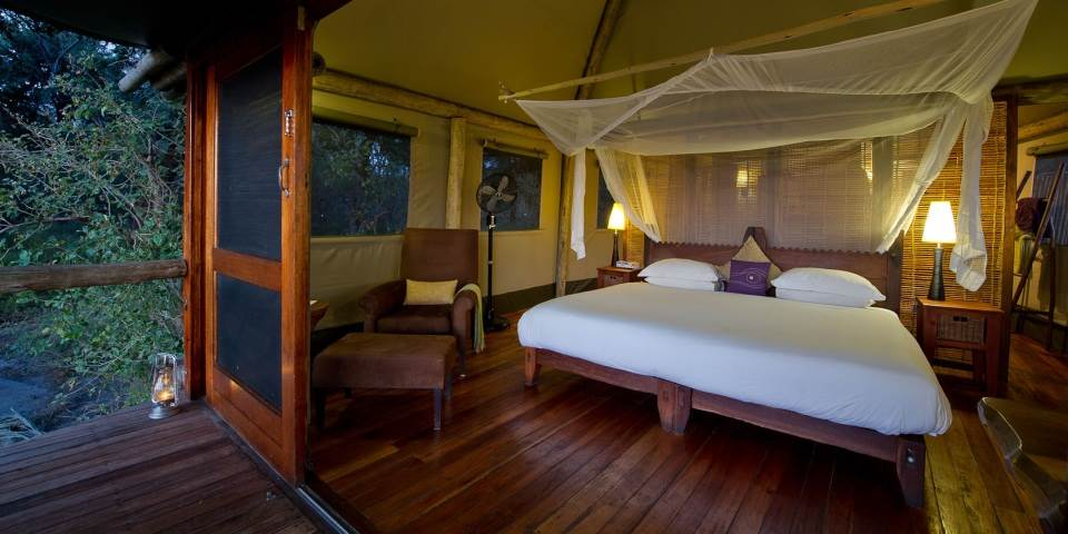 Bedroom interior at Xigera safari camp